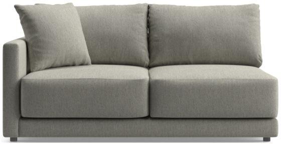 Gather Left-Arm Apartment Sofa shown in Icon, Metal