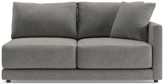 Gather Right-Arm Apartment Sofa shown in Icon, Metal