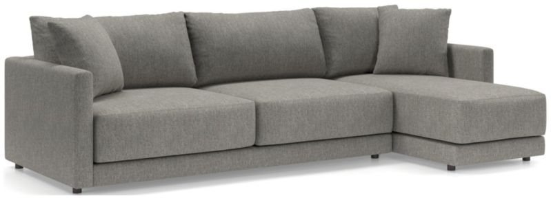 Gather 2-Piece Right Arm Chaise Sectional shown in Icon, Metal