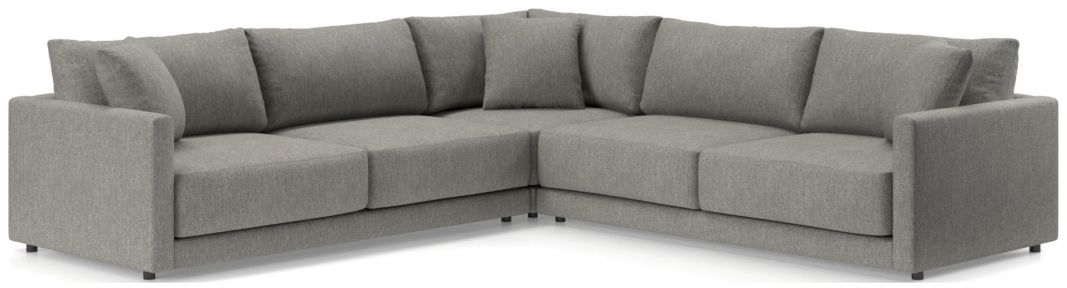 Gather 3-Piece Sectional shown in Icon, Metal