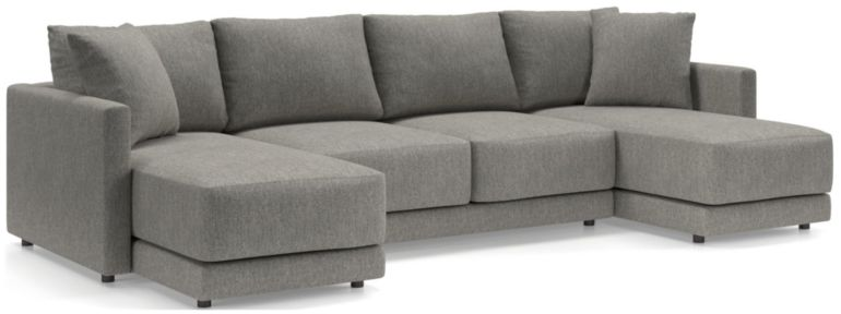 Gather 3-Piece Double Chaise Sectional shown in Icon, Metal