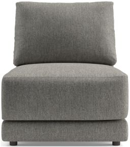 Gather Armless Chair shown in Icon, Metal