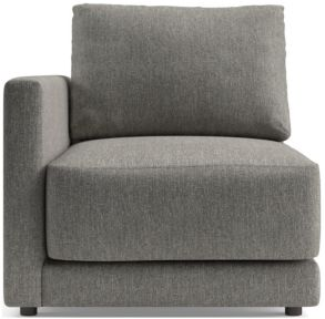 Gather Left-Arm Chair shown in Icon, Metal