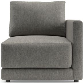 Gather Right-Arm Chair shown in Icon, Metal
