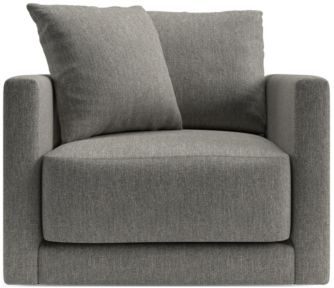 Gather Swivel Chair shown in Icon, Metal