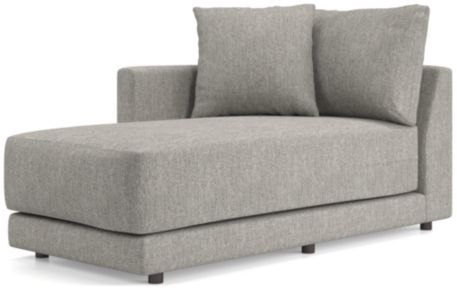 Gather Left Arm Chaise shown in Icon, Metal