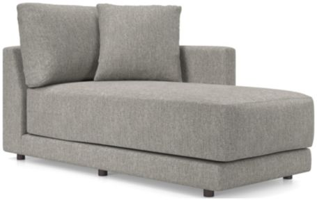 Gather Right Arm Chaise shown in Icon, Metal