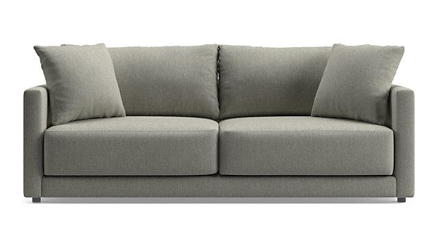 Gather Petite Sofa shown in Icon, Metal