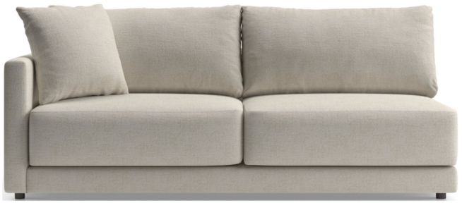 Gather Petite Left-Arm Sofa shown in Monet, Champagne