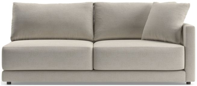 Gather Petite Right-Arm Sofa shown in Monet, Champagne