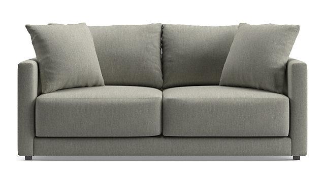 Gather Petite Apartment Sofa shown in Icon, Metal