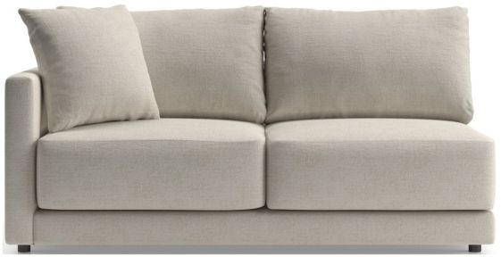 Gather Petite Left-Arm Apartment Sofa shown in Monet, Champagne