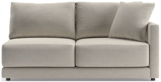 Gather Petite Right-Arm Apartment Sofa shown in Monet, Champagne