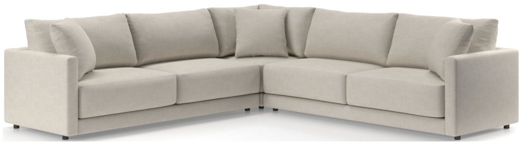 Gather Petite 3-Piece Sectional (Left-Arm Sofa, Corner, Right-Arm Sofa) shown in Monet, Champagne