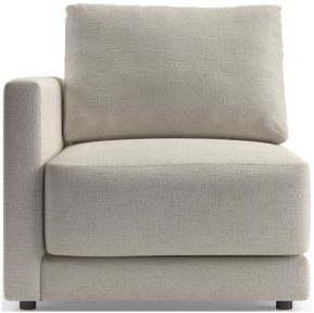 Gather Petite Left-Arm Chair shown in Monet, Champagne