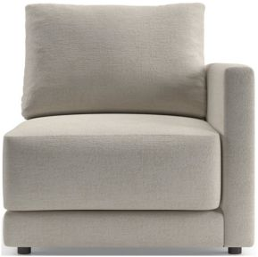 Gather Petite Right-Arm Chair shown in Monet, Champagne