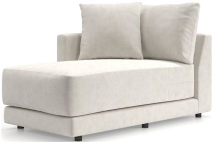 Gather Petite Left-Arm Chaise shown in Monet, Champagne