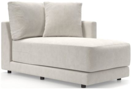 Gather Petite Right-Arm Chaise shown in Monet, Champagne