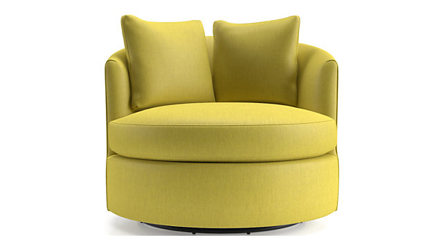 Small Tillie Outdoor Swivel Chair shown in Triumph, Mustard
