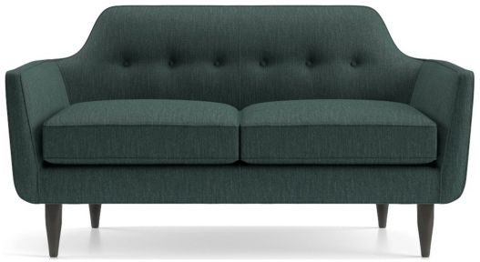 Gia Button Tufted Loveseat shown in Brennan, Teal