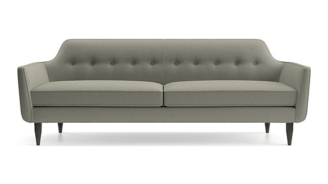 Gia Button Tufted Sofa shown in Brennan, Grey