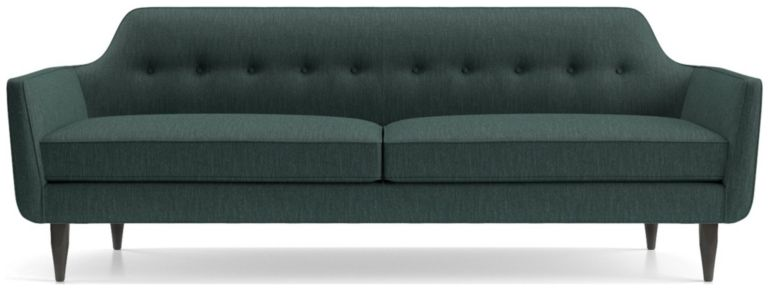 Gia Button Tufted Sofa shown in Brennan, Teal