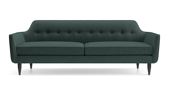 Gia Button Tufted Sofa shown in Brennan, Teal