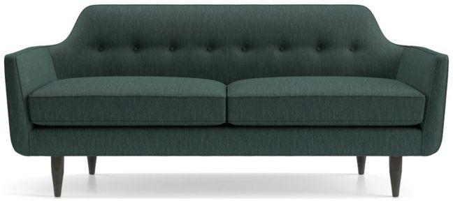Gia Button Tufted Apartment Sofa shown in Brennan, Teal