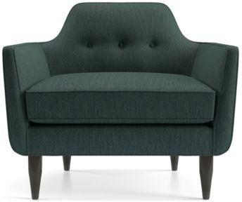 Gia Button Tufted Chair shown in Brennan, Teal