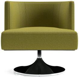Grayson Swivel Chair shown in Luxe, Citron