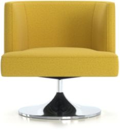 Grayson Swivel Chair shown in Luxe, Citron