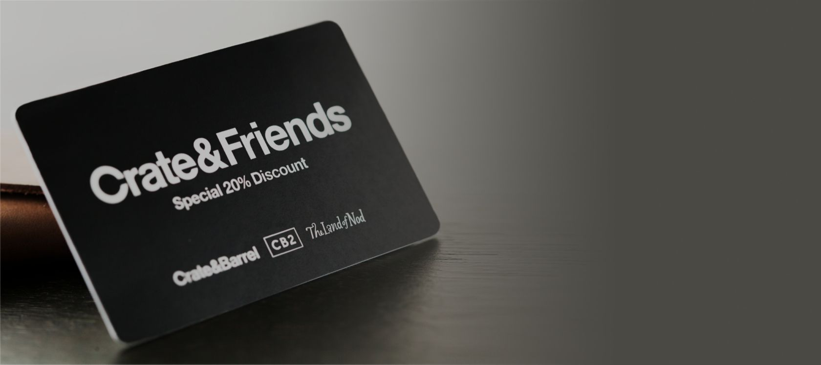 Crate and Friends Discount card