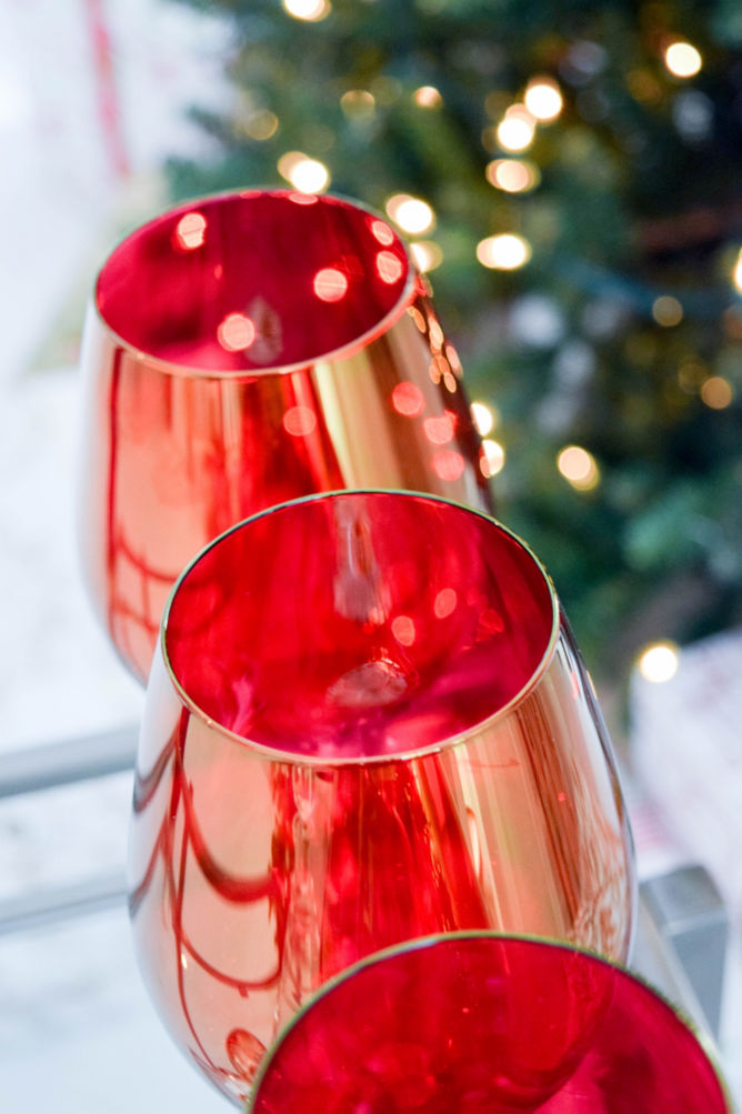 red and white glasses - Christmas Holiday 2015