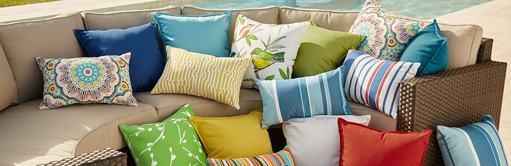 Sale: Outdoor Pillows and Poufs Crate and Barrel