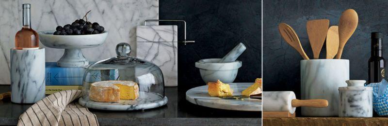 marble kitchen accessories marble kitchen accessories   crate and barrel  rh   crateandbarrel com