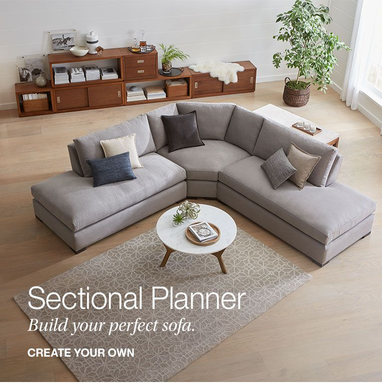 Sectional Sofas Customize Your Own Crate And Barrel Canada