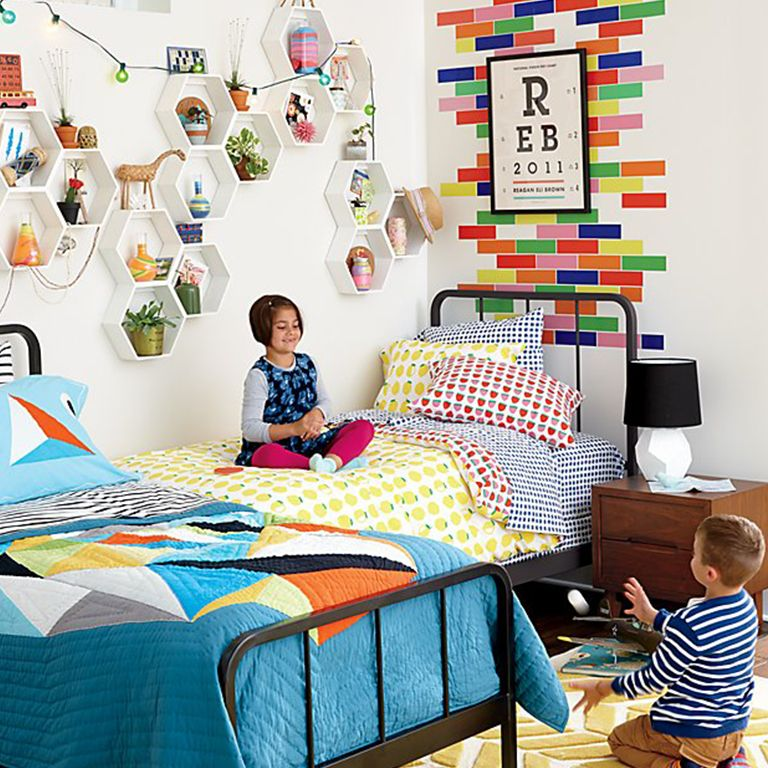 You Donu0027t Need Matching Furniture To Coordinate A Kids Shared Bedroom.  Using The Same Beds With Different Bedding (or Vice Versa) Can Tie The Room  Together.