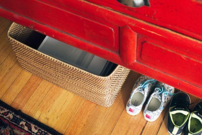 Shoe entryway organization