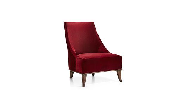 Matisse Velvet Slipper Chair Reviews Crate And Barrel