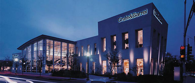 Exterior View Of Crate And Barrel Location Knox Street