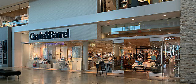 Exterior view of Crate and Barrel location, Yorkdale Shopping Centre
