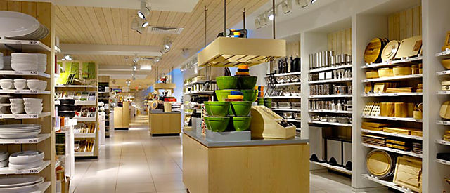 Exterior view of Crate and Barrel location, Square One Shopping Centre