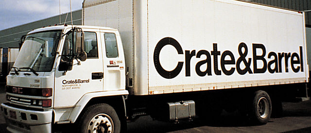 Exterior view of Crate and Barrel location, Vancouver Warehouse