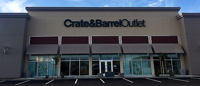 Exterior View Of Crate And Barrel Location Livermore Outlet