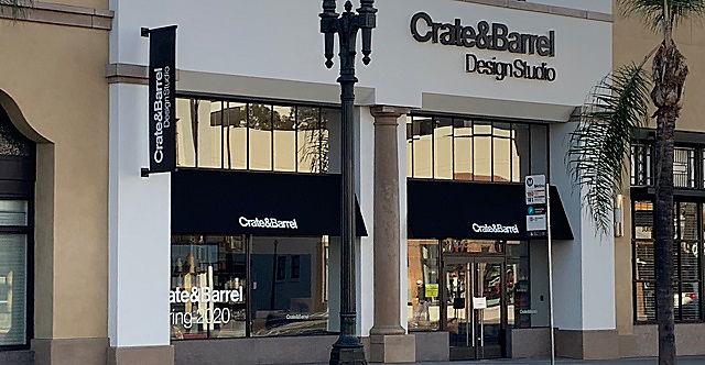 Exterior view of Crate and Barrel location, Pasadena Design Studio
