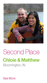 Second Place: Chloie & Matthew, Bloomington IN