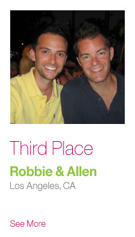 Third Place: Robbie & Allen, Los Angeles CA