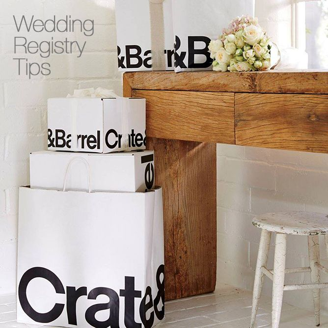 Wedding registry table