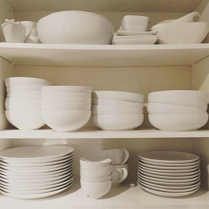 White dinnerware